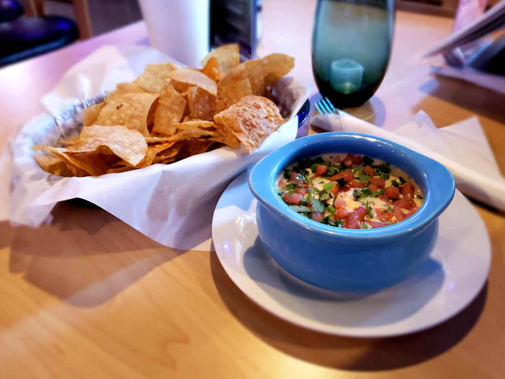 Queso Dip with Chips | Starters